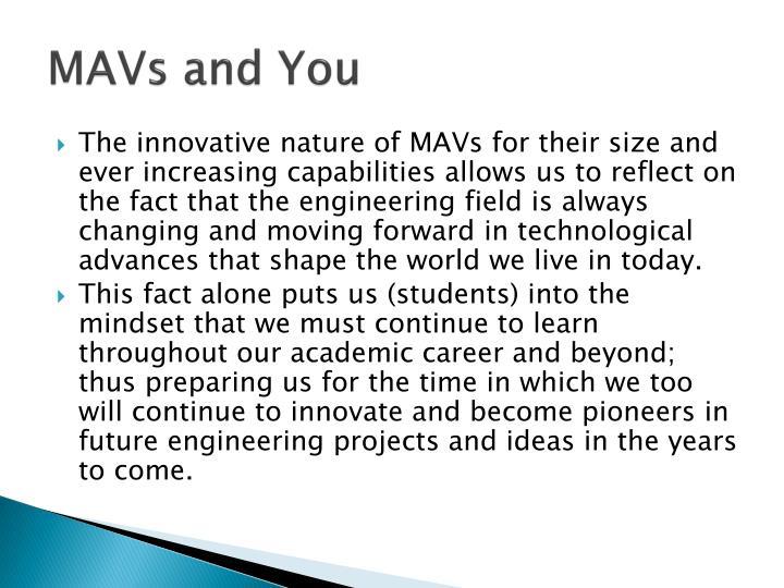 MAVs and You