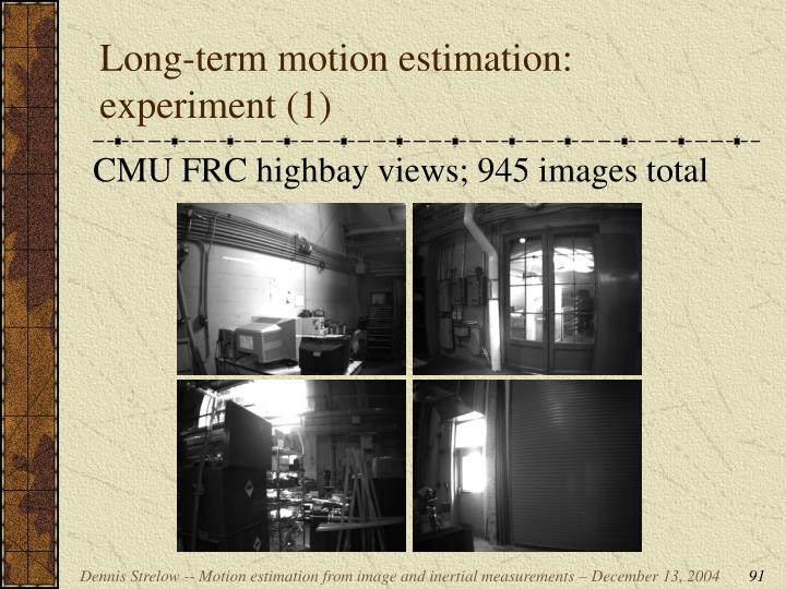 Long-term motion estimation: experiment (1)