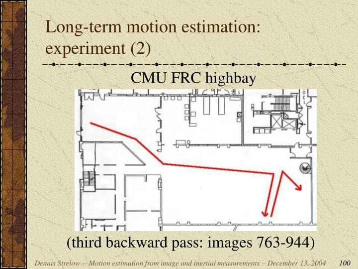 Long-term motion estimation: experiment (2)