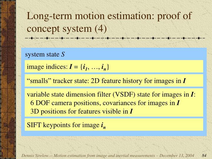 Long-term motion estimation: proof of concept system (4)