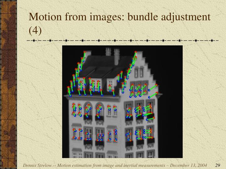 Motion from images: bundle adjustment (4)