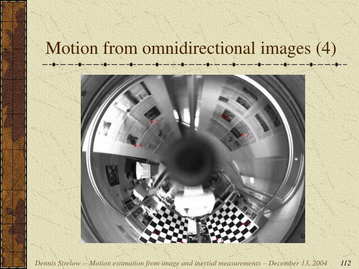 Motion from omnidirectional images (4)