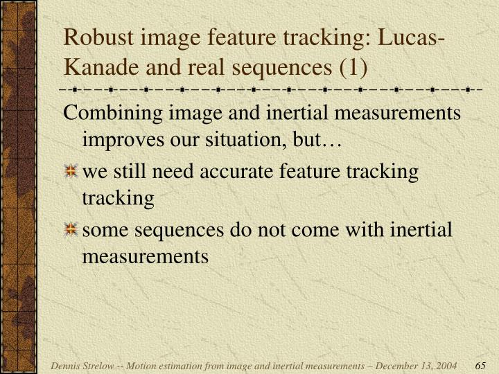 Robust image feature tracking: Lucas-Kanade and real sequences (1)
