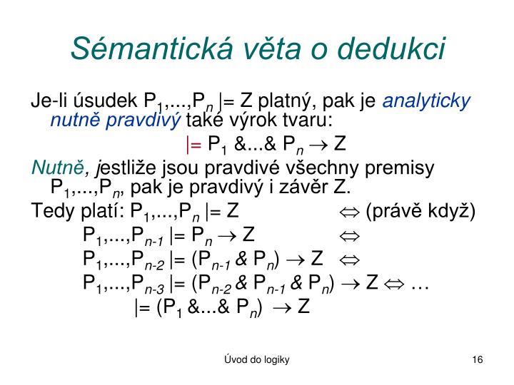 Sémantická věta o dedukci