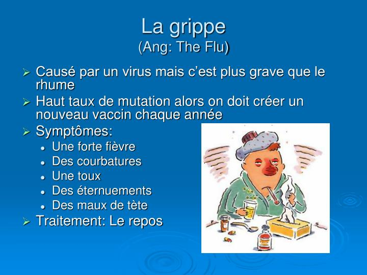 La grippe ang the flu