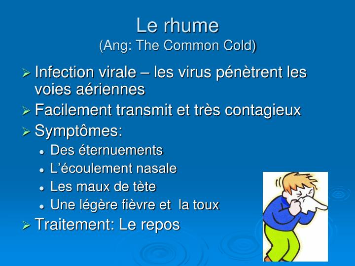 Le rhume ang the common cold