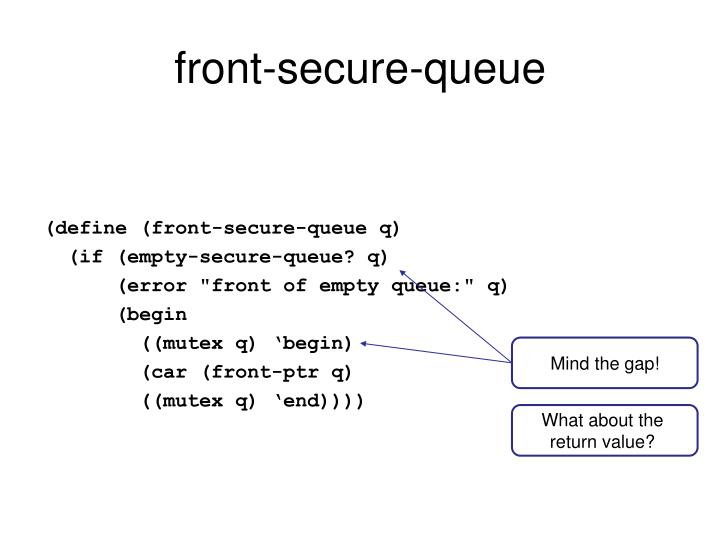 front-secure-queue