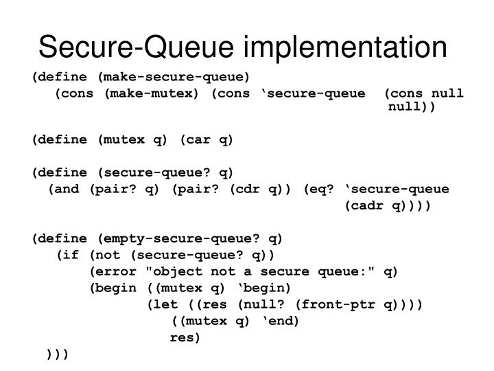 Secure-Queue implementation