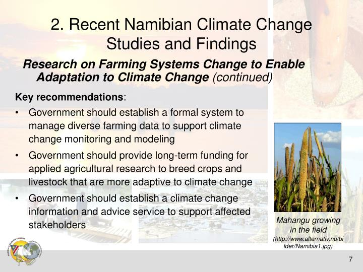 2. Recent Namibian Climate Change Studies and Findings