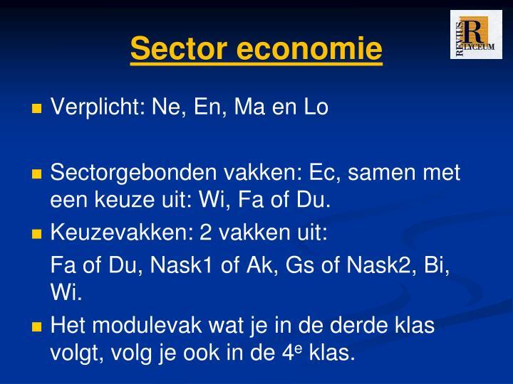 Sector economie