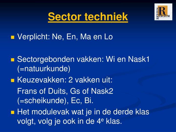 Sector techniek
