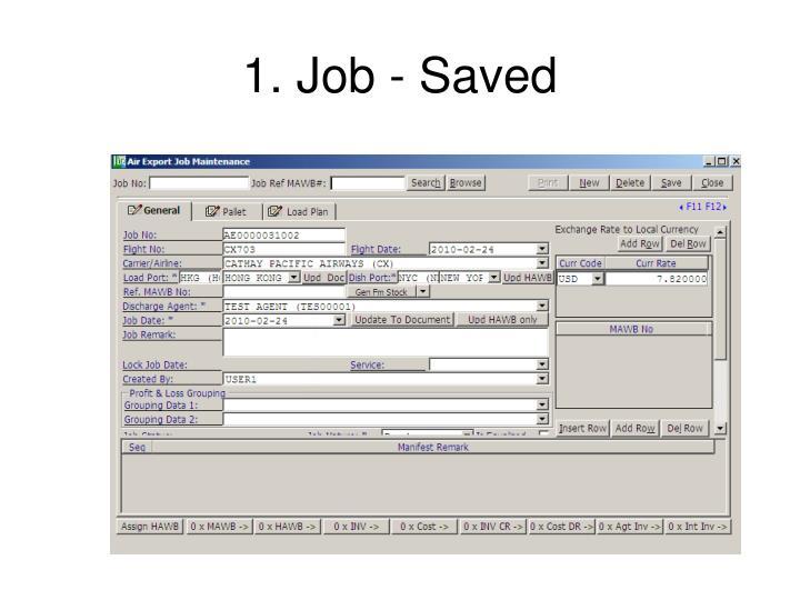 1. Job - Saved