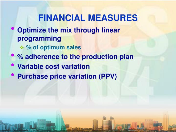 FINANCIAL MEASURES