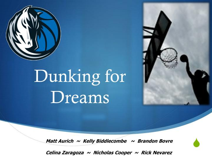 dunking for dreams n.