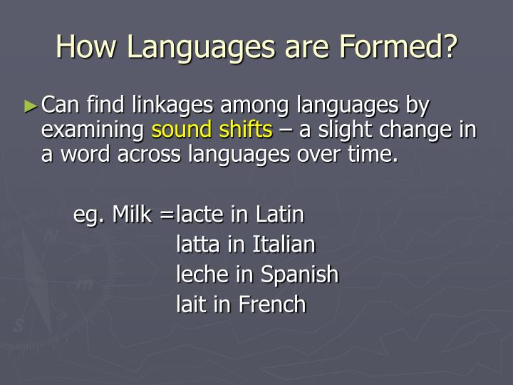 How Languages are Formed?