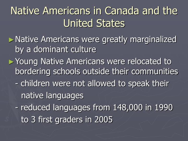 Native Americans in Canada and the United States