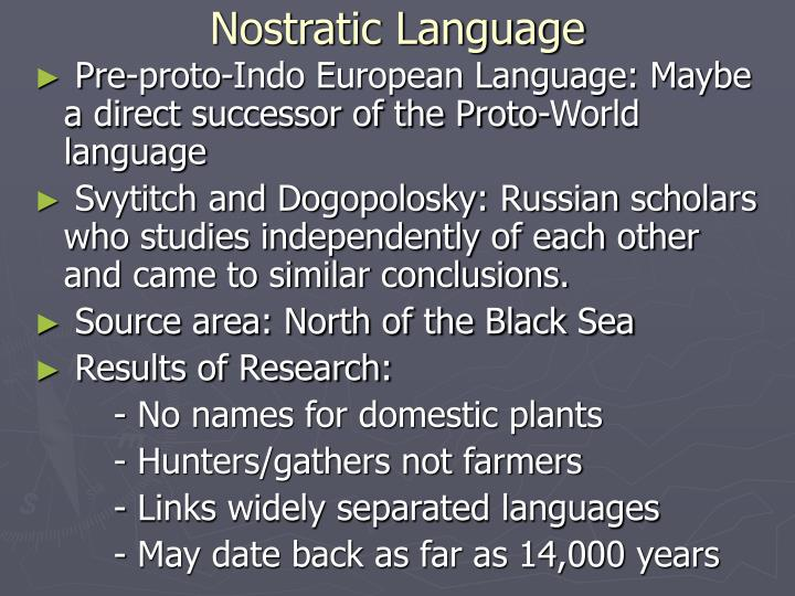Nostratic Language