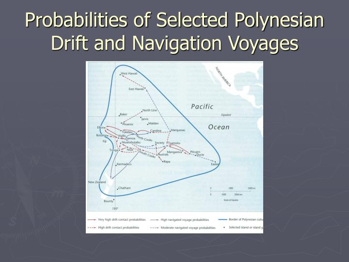 Probabilities of Selected Polynesian Drift and Navigation Voyages