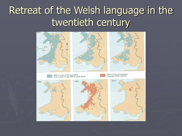 Retreat of the Welsh language in the twentieth century