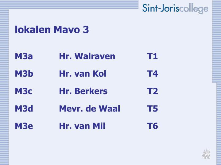 lokalen Mavo 3