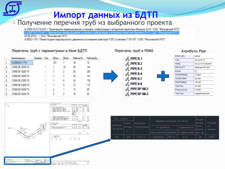 Импорт данных из БДТП