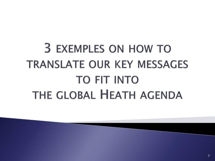 3 exemples on how to translate