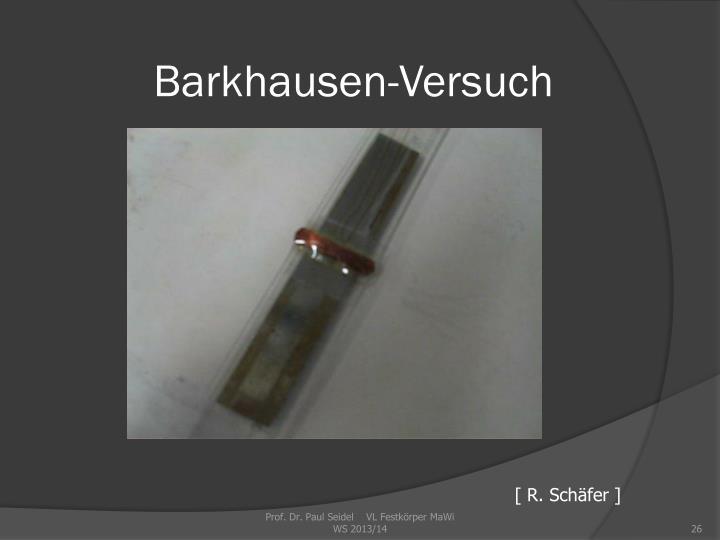 Barkhausen-Versuch