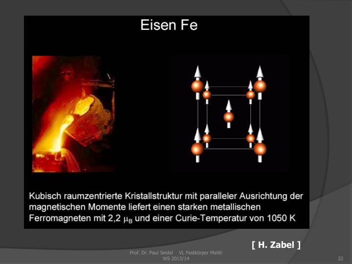 [ H. Zabel ]