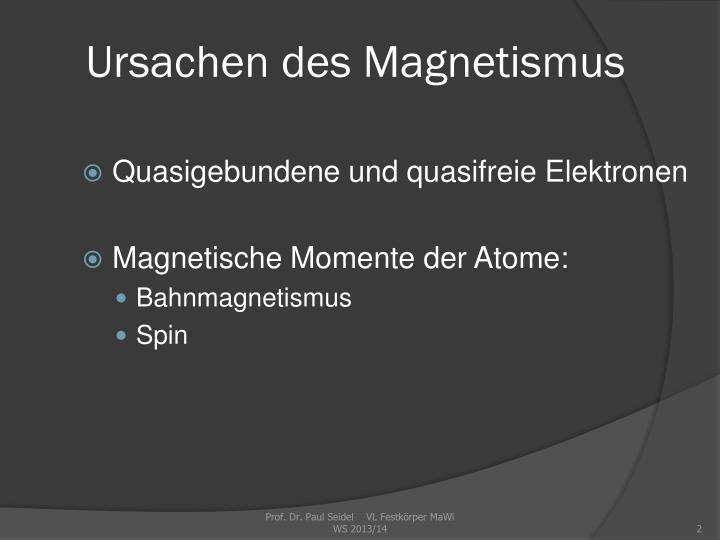Ursachen des magnetismus