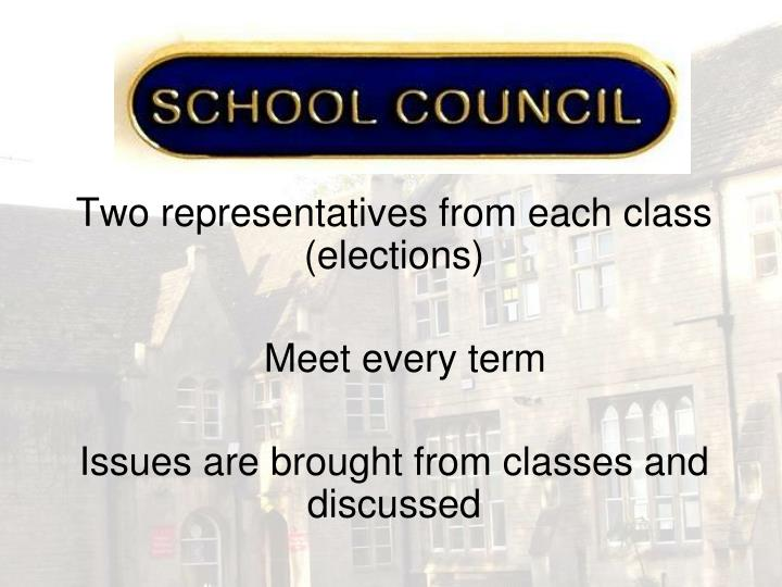 Two representatives from each class (elections)