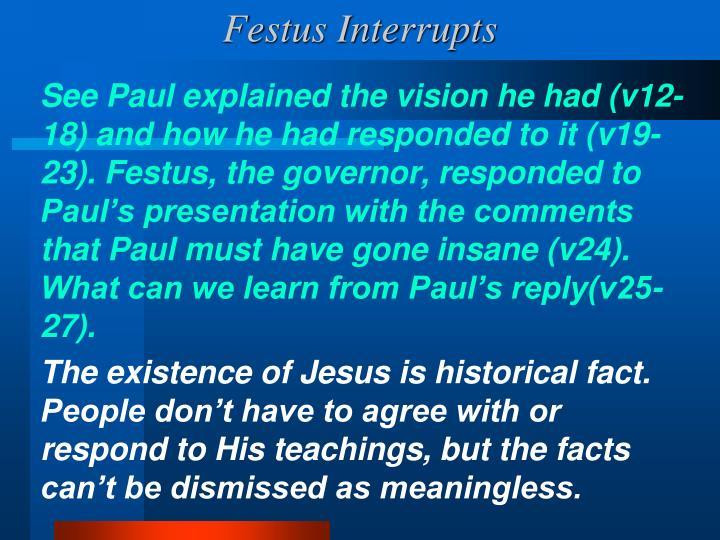 Festus Interrupts