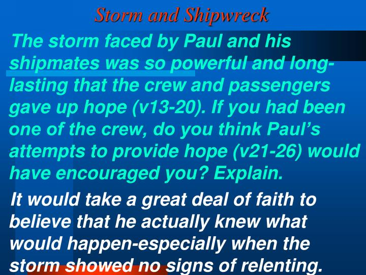 Storm and Shipwreck