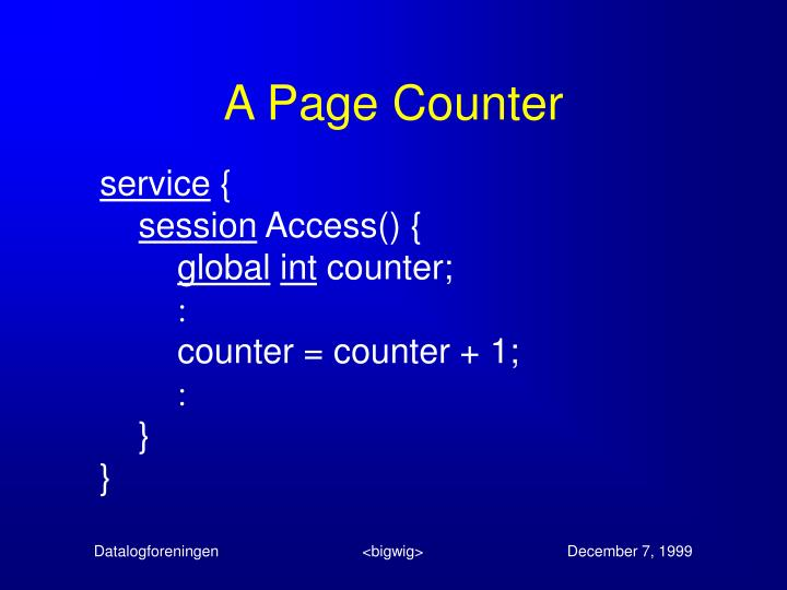 A Page Counter