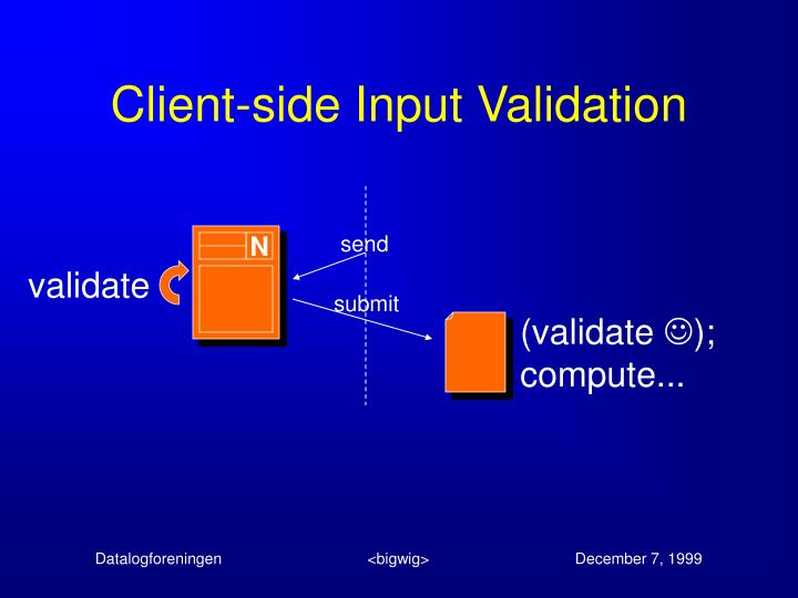 Client-side Input Validation