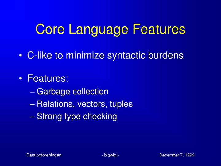 Core Language Features