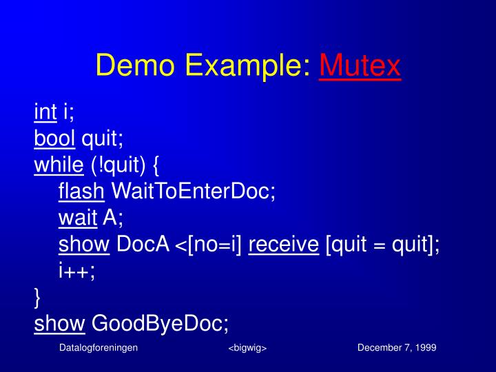 Demo Example: