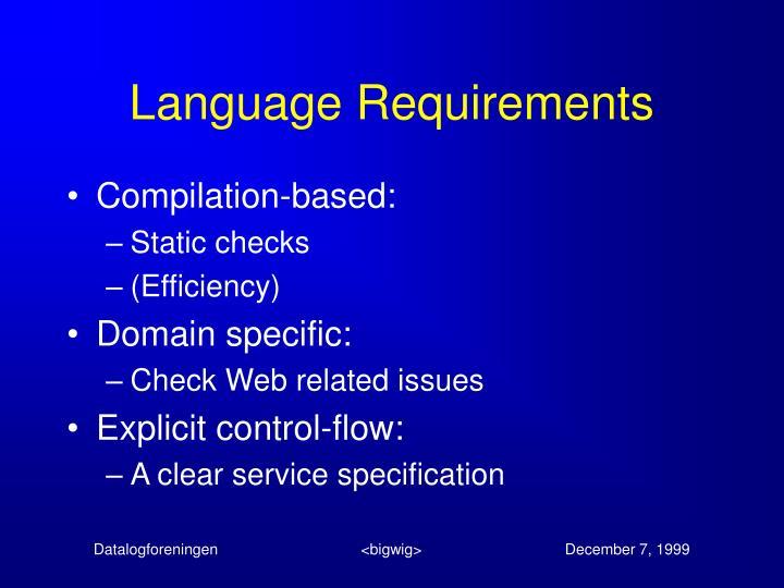 Language Requirements