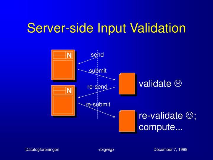 Server-side Input Validation