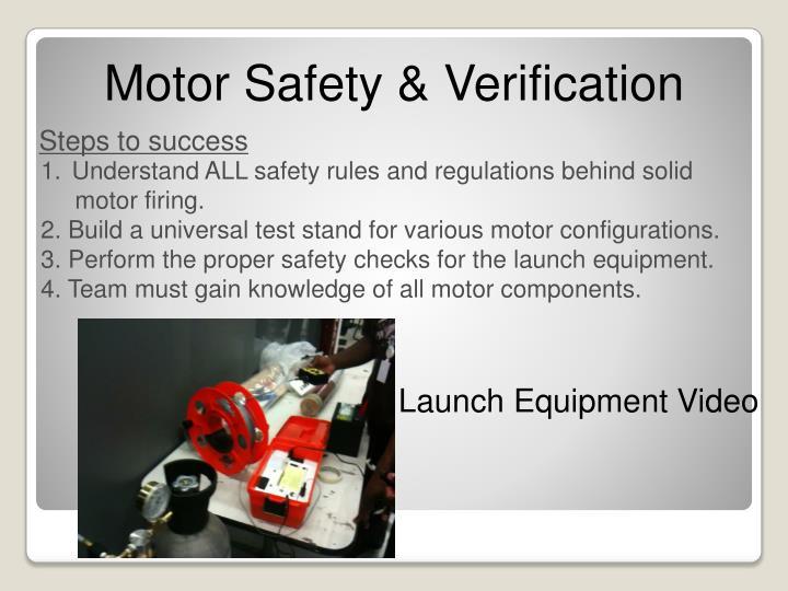 Motor Safety & Verification