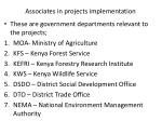 associates in projects implementation