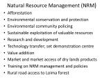 natural resource management nrm