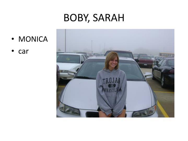 BOBY, SARAH