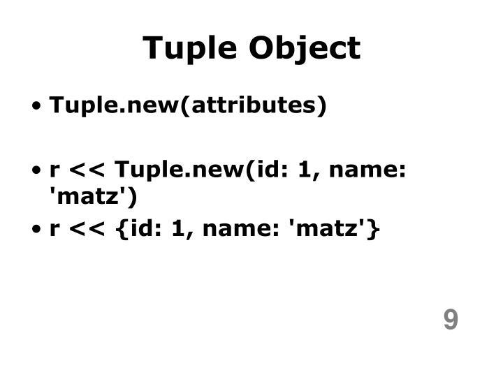 Tuple Object