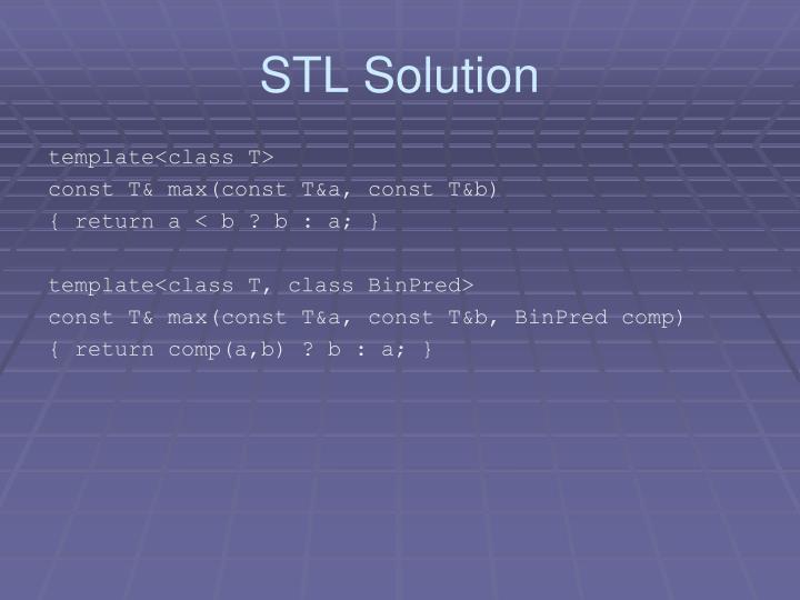STL Solution