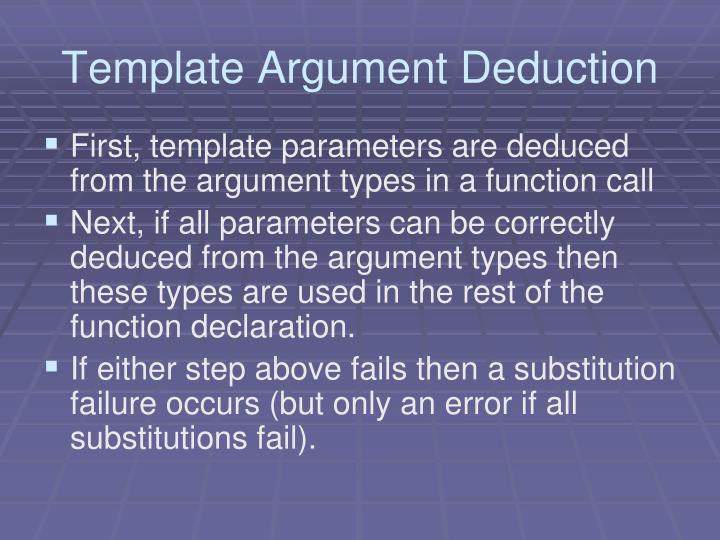 Template Argument Deduction
