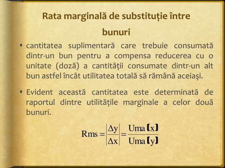 Rata marginală de substituţie între bunuri