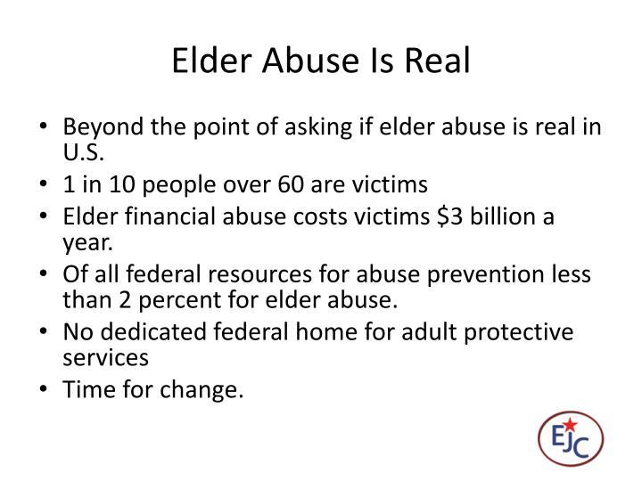 Elder Abuse Is Real