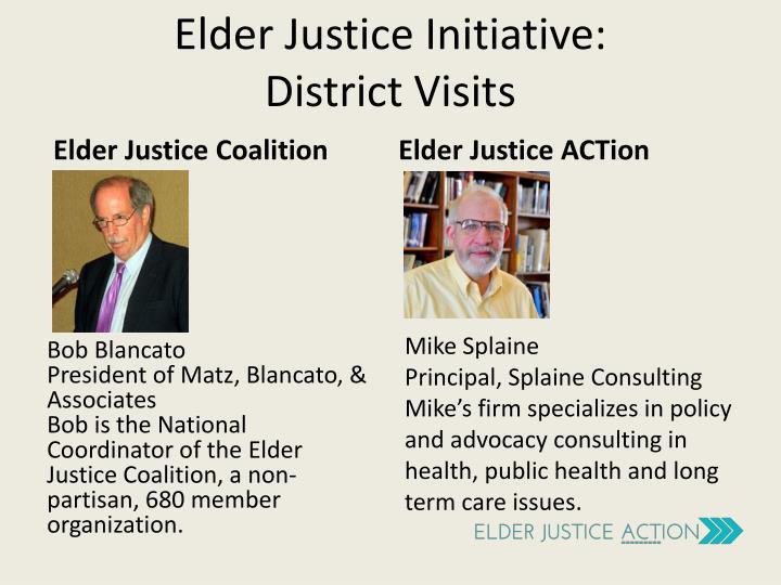 Elder justice initiative district visits