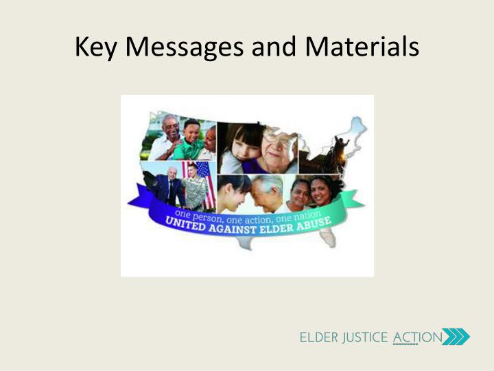 Key Messages and Materials