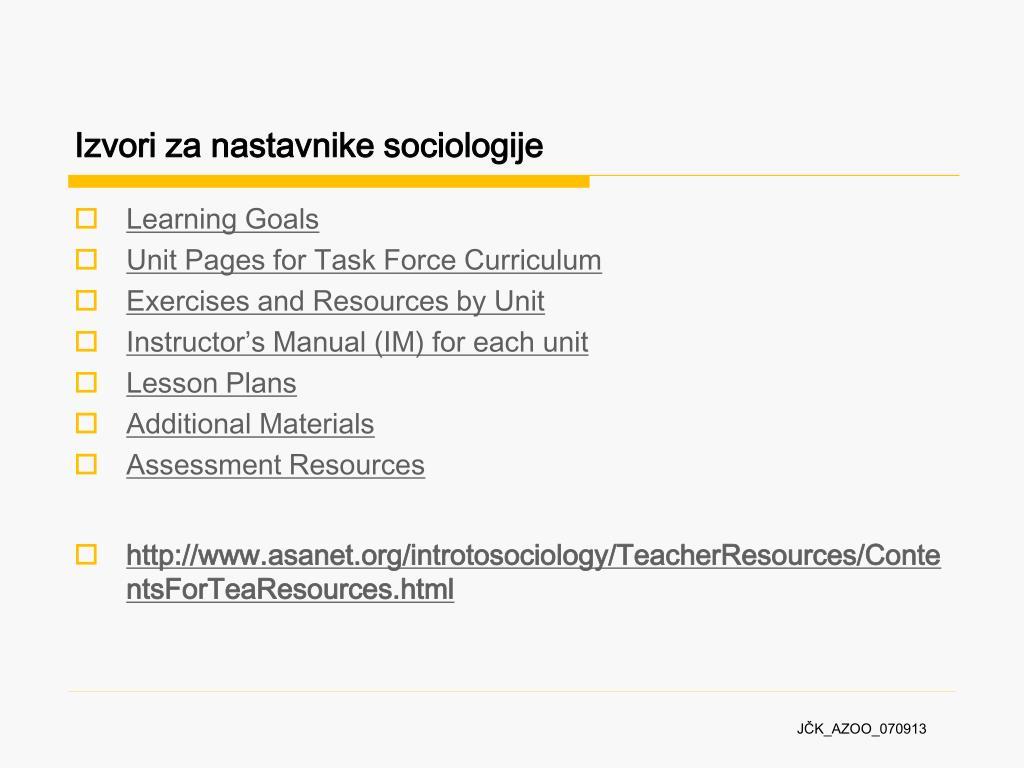Ocjenjivanje i upoznavanje složene sociologije